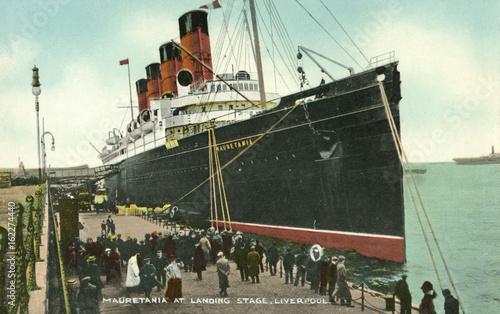 Fotografie, Obraz Mauretania' Postcard. Date: 1907