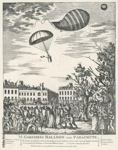 Obraz na plátne Parachute. Date: 21 September 1802