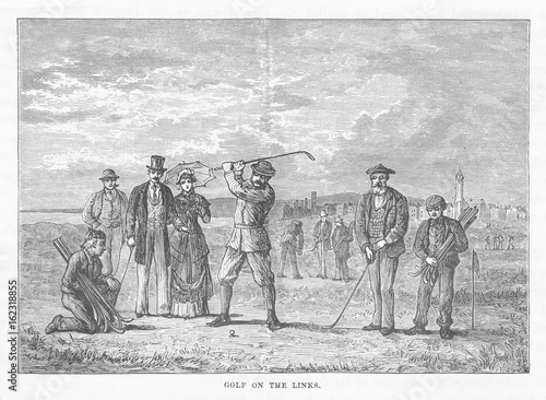 Canvas Print Golf at St Andrews 1881. Date: 1881