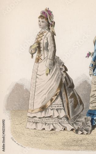 History of Fashion 1875. Date: 1875 Fototapet