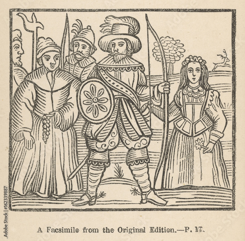 Fotografia, Obraz Robin Hood  Maid Marian and Friar Tuck