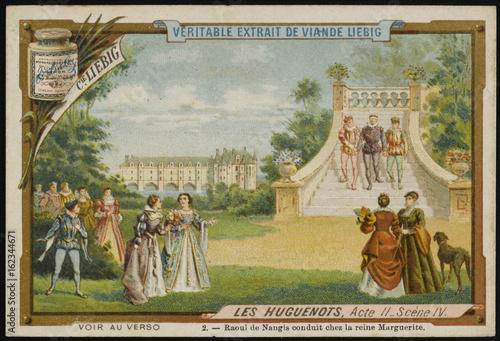 Meyerbeer - Huguenots. Date: 1836 Fototapeta