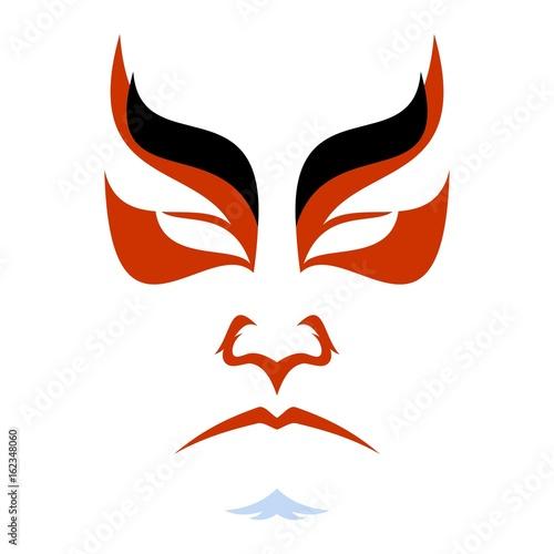 Canvas Print Japanese drama Kabuki face