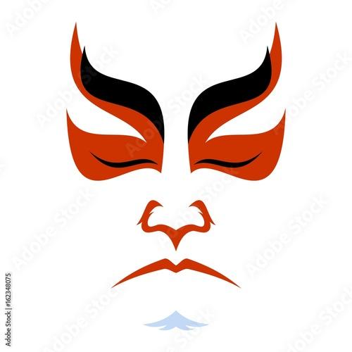 Stampa su Tela Japanese drama Kabuki face