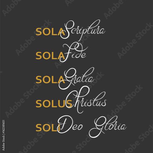 Scriptura fide gratia sola sola sola G3 Ministries