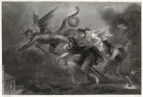 Fotografie, Tablou Devil and Witches 1839. Date: 1839