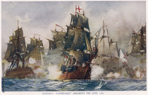 Wallpaper Mural Naval Battle 1782. Date: 12 April 1782