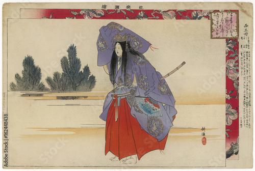 Carta da parati Theatre - Exotic - Kabuki. Date: 19th century