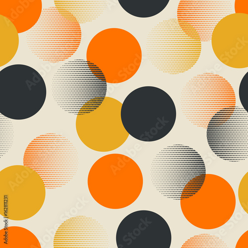 Wallpaper Mural seamless retro pattern with dots
