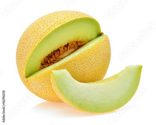 Photo cantaloupe melon isolated on white