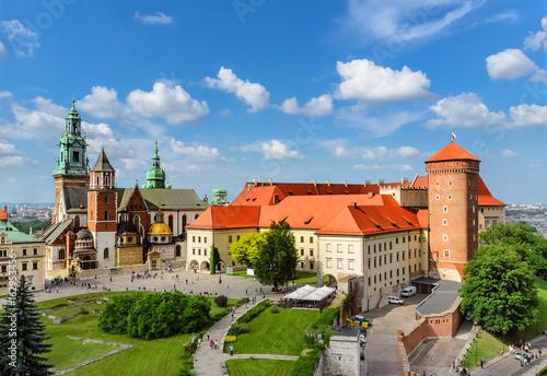 Krakow - Wawel castle at day. Poland Europe.