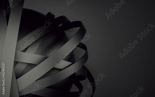 Fototapeta premium Czarny abstrakcjonistyczny sfery piłki tło dla twój projekta. Renderowania 3d