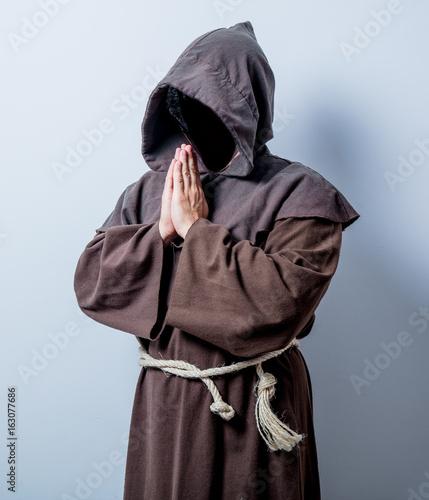Obraz na płótnie Portrait of Young catholic monk