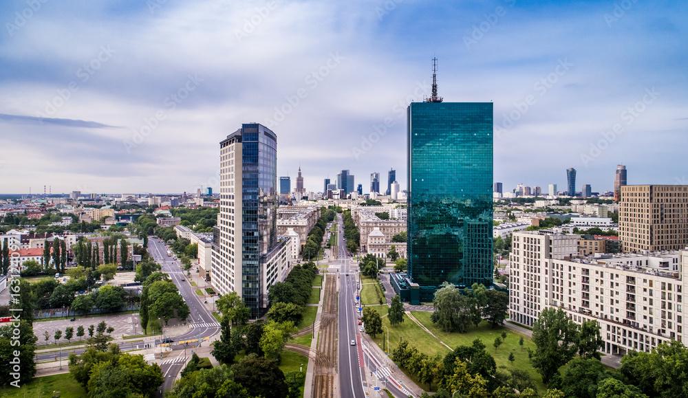 Warszawa <span>plik: #163124097   autor: Drone in Warsaw</span>