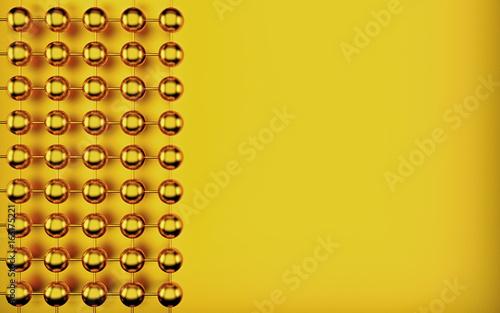 Fototapeta premium Złocisty abstrakcjonistyczny sfery piłki tło dla twój projekta. Renderowania 3d