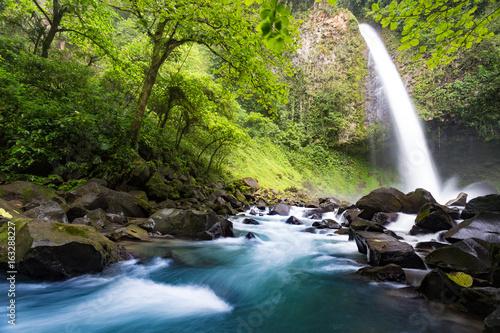 Canvas Print La Fortuna Waterfall, Costa Rica, long exposure
