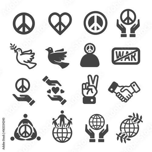 Fotografía peace icon set