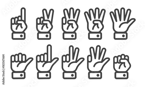 Photo finger counting icon