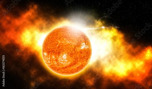 The sun is burning.