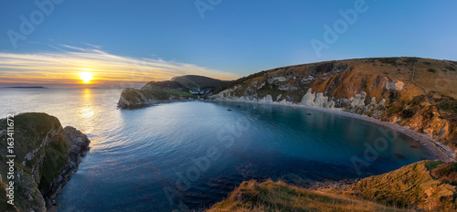 Stampa su Tela Lulworth Cove, Dorset at Sunset