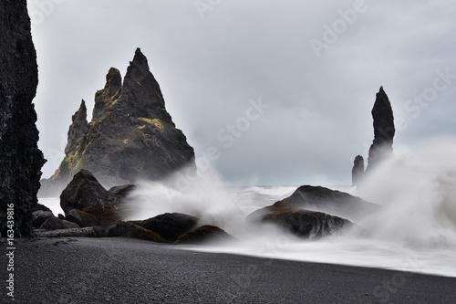 Canvas Print Küste in Island bei Vik