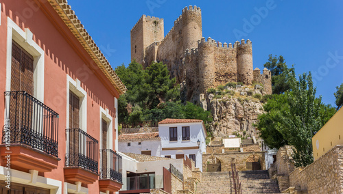 Castle on the hilltop above Almansa