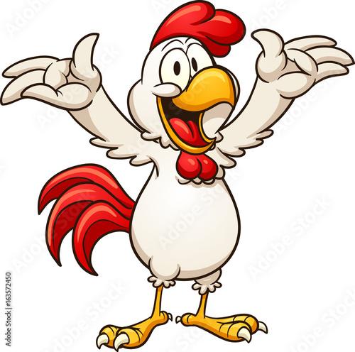 Fototapeta Happy cartoon chicken