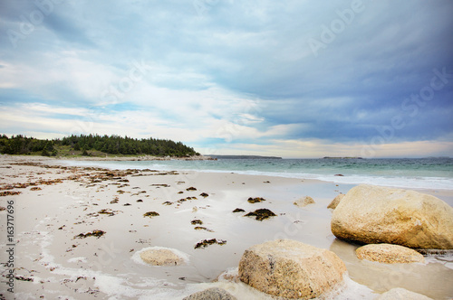 Fotografia Crystal Crescent Beach in Nova Scotia.