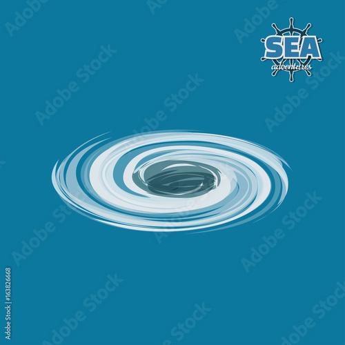 Wallpaper Mural Whirlpool in water in isometric style