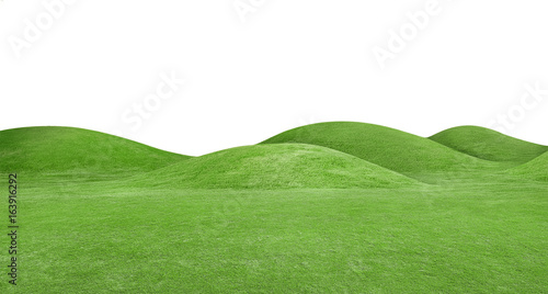 Tablou Canvas panorama of green hills is on white background