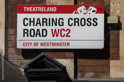Charing Cross Road Street Sign фототапет