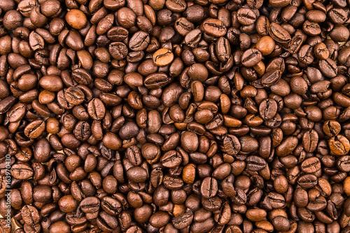 Fototapeta premium Tekstura tło ziaren kawy