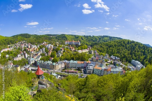 Carta da parati Great Czech spa town Karlovy Vary (Karlsbad) in the western part of the Czech Re