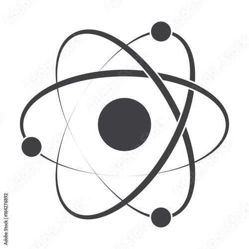 Obraz na płótnie Model atom concept for molecular chemistry or physic, vector silhouette