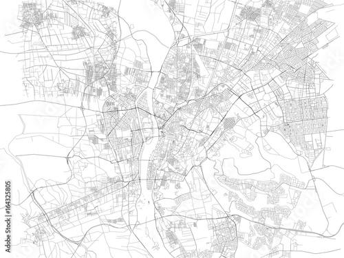 Photo Cartina di Cairo, città, strade, Egitto