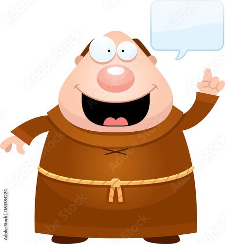 Photo Cartoon Monk Idea