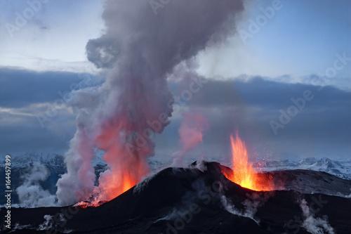 Carta da parati Volcano eruption