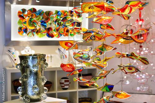 Obraz na płótnie VENICE, ITALY - MAY, 2017: The interior of the Venetian souvenir shop