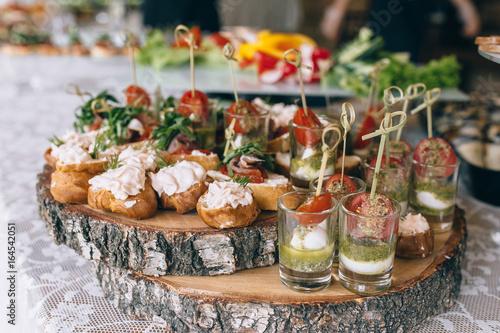 Fotomural pintxos, tapas, spanish canapes party finger food