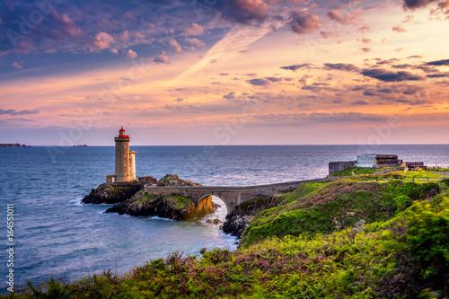 Fototapeta Lighthouse Phare du Petit Minou in Plouzane, Fort du Petit Minou, Brittany (Bretagne), France