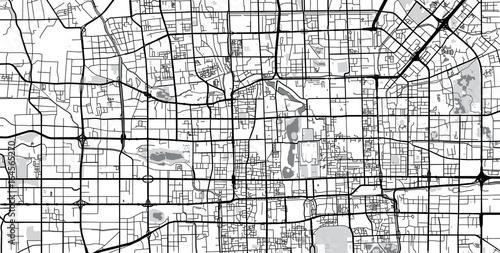 Fototapeta Vector city map of Beijing, China