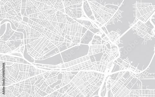 Cuadros en Lienzo Vector city map of Boston, Massachusetts