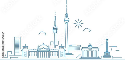 Fototapeta premium Panoramę Berlina