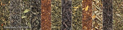 Fotografie, Obraz variety of black, green, red and herbal tea banner