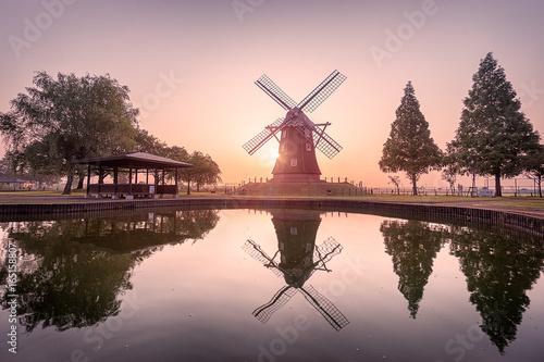 Akebonoyama Windmill Fototapeta