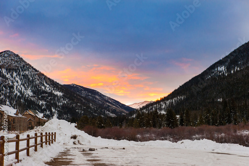 Canvas-taulu Keystone Colorado Mountain