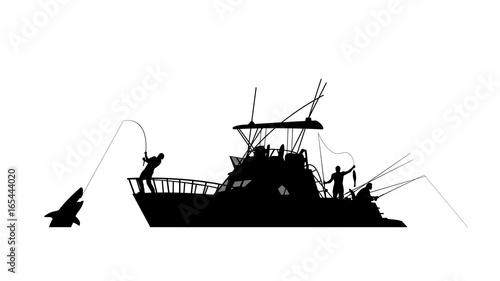 Obraz na płótnie boat fishing silhouette