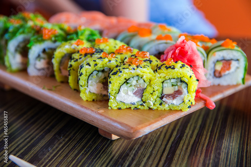 Fototapeta Sushi rolls on the table