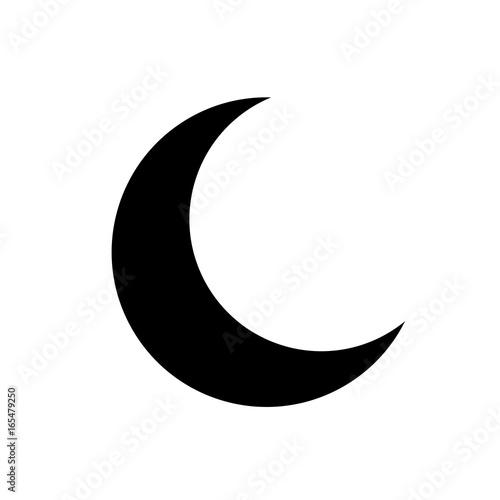 Crescent vector icon Tapéta, Fotótapéta