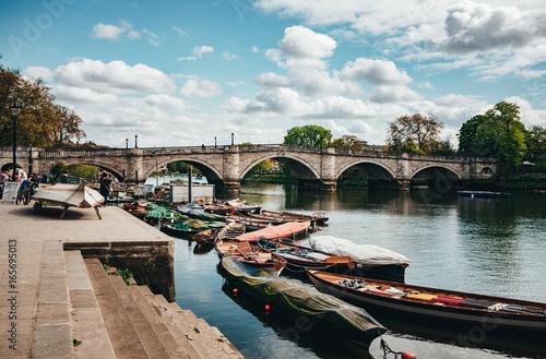 Obraz na płótnie Richmond Park, Bridge, Boats, London